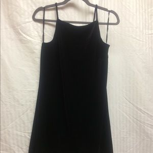 Deep Purple High Neck Spaghetti Strap Mini Dress